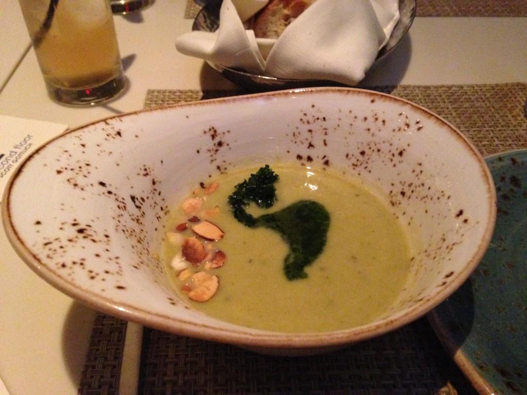 Potato, leek, & kale soup at The Second Floor