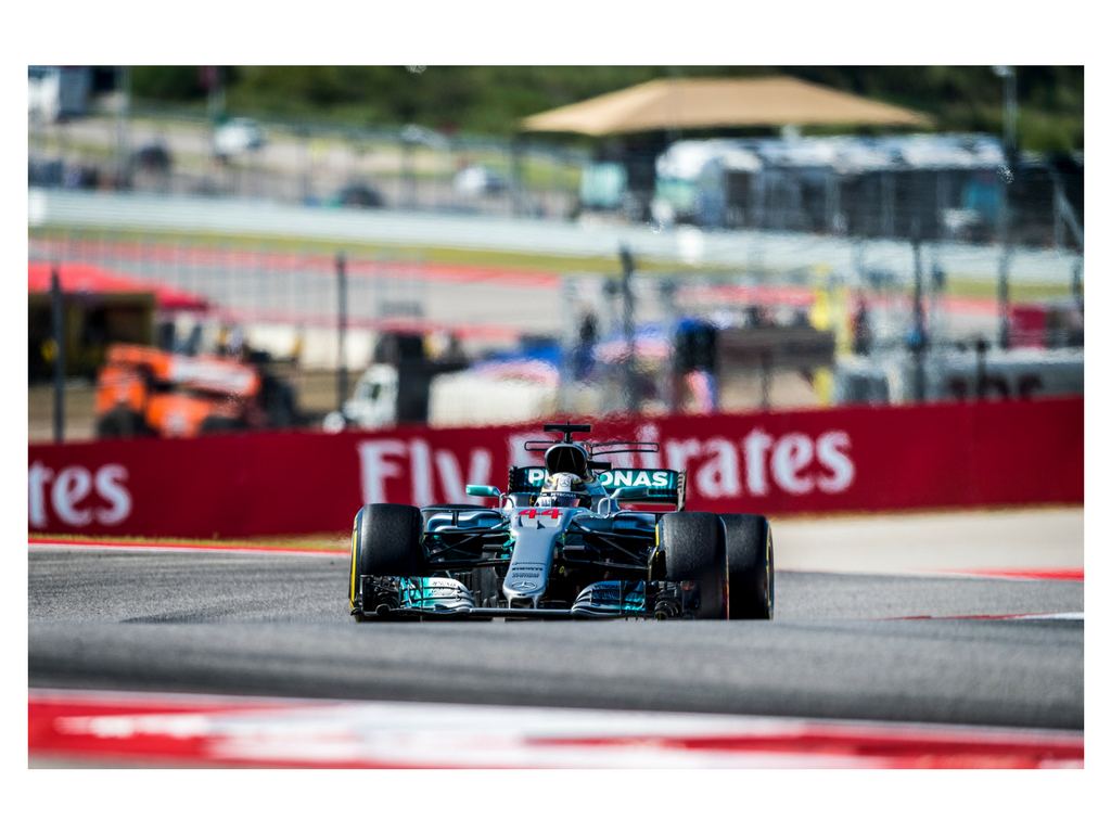 Hamilton won Sunday's 2017 USGP and Mercedes' 4th consecutive victory in the constructors' championship.