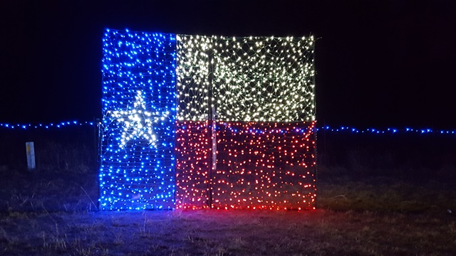 Glowing Texas Pride Lights Up The Night At Christmas Light Fest. Courtesy  Photo