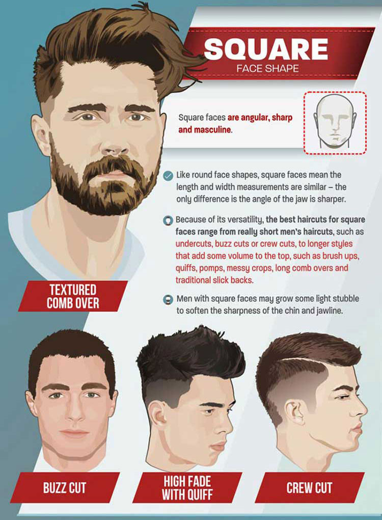 Check it out below for suggestions on the best men's hairstyles for you according to your features and look!